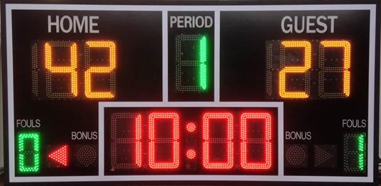 LED sports scoreboards by HMI Technologies