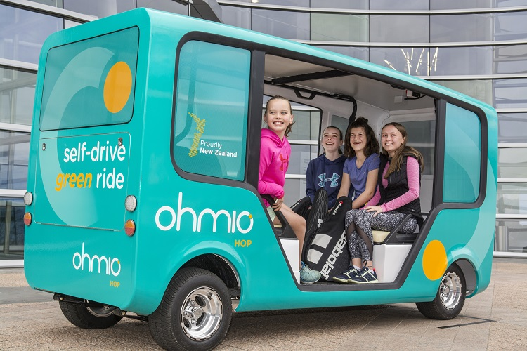 Ohmio Hop self-driving shuttle