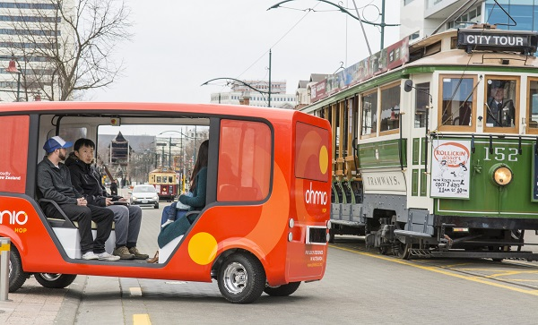 Ohmio Hop shuttle, automated vehicle